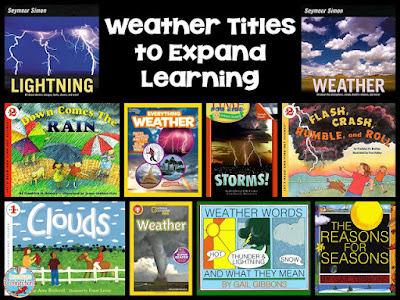If you're teaching a weather unit in science or are looking for ideas, this post is filled with them These book titles can give you a start.