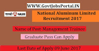 National Aluminum Limited Recruitment 2017– Management Trainee