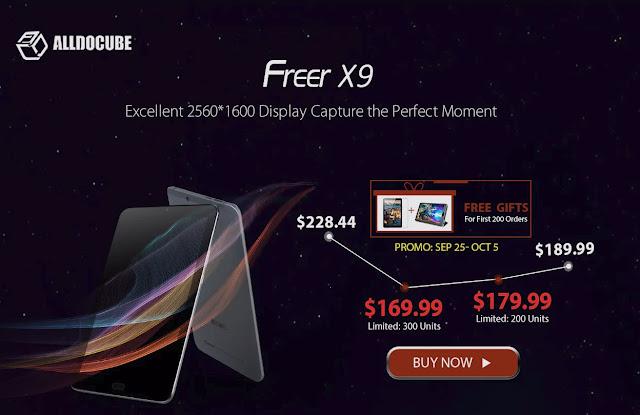 【CUBE Freer X9】8.9インチ2560×1600の超高解像度ディスプレイ搭載!ハイスペックなAndroidタブ、CUBE Freer X9が169ドルで登場!
