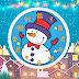 Animated Snowman Clock Screensaver