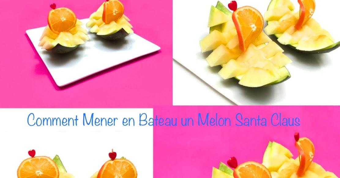 1 sculpture de fruit et l gume comment mener en bateau un melon santa claus how to make a - Comment faire murir un melon ...