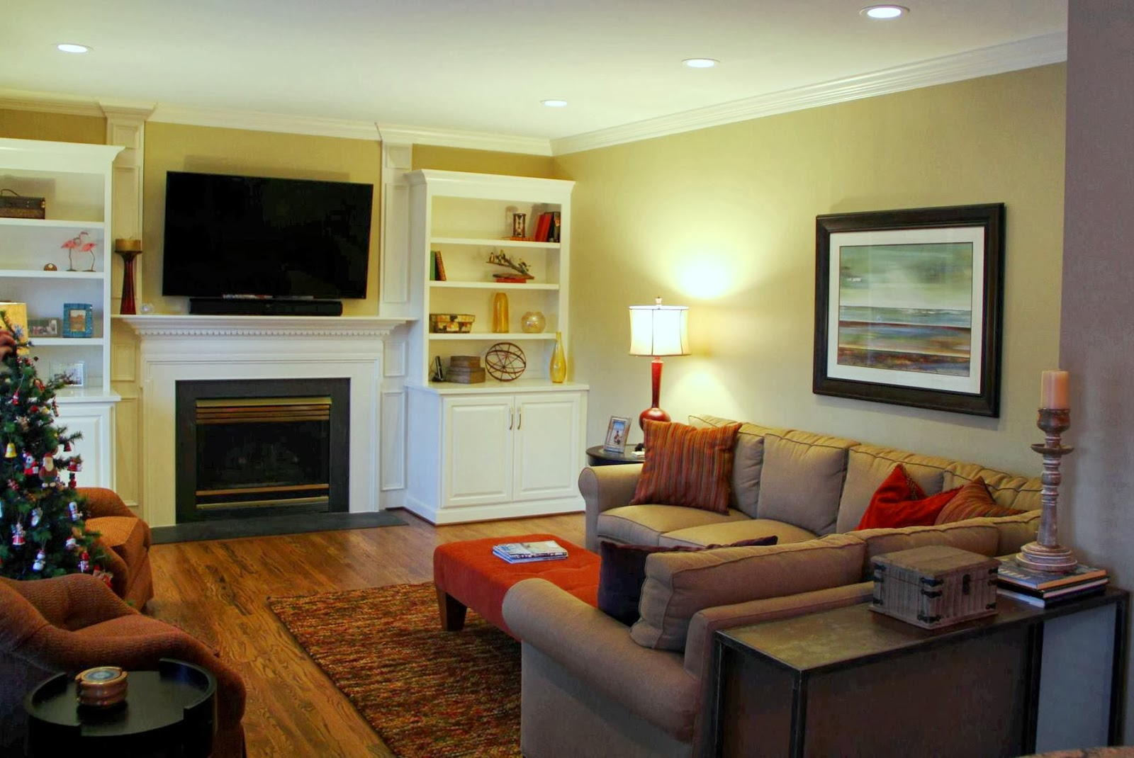 How to maximize seating in a family room for TV viewing ...