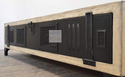 Meuble TV style industriel métal et bois