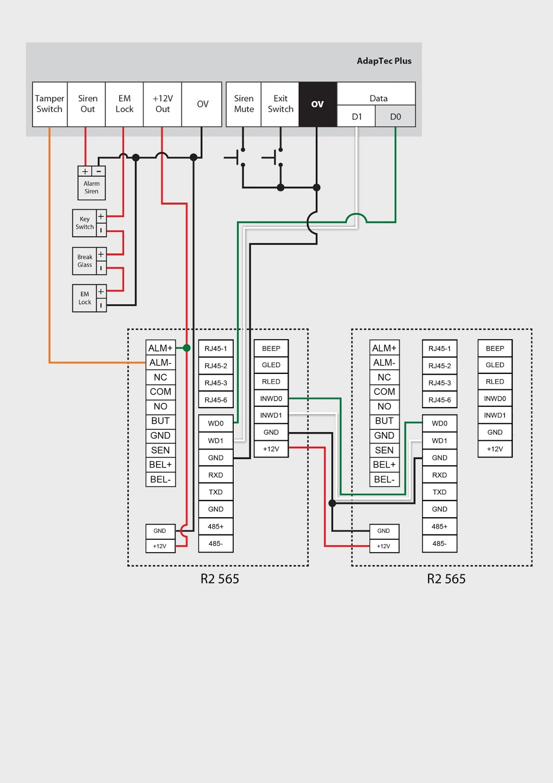 wiegand card reader wiring diagram