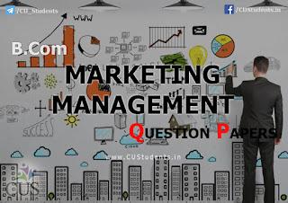 B.COM Marketing Management Previous Question Papers