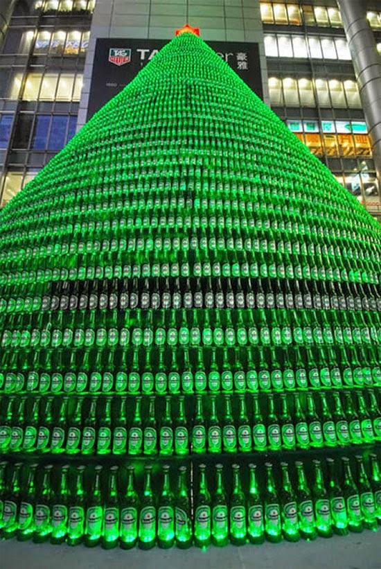 árvore de natal de bebidas