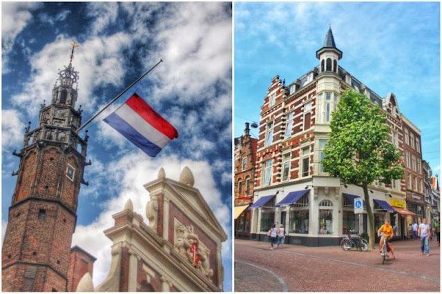 Torre junto a Grote Markt, Calle en Haarlem