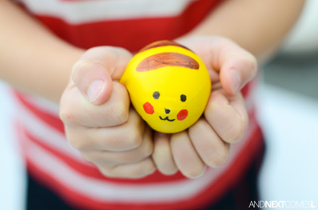 Pikachu stress balls would be a cute Pokemon craft for kids from And Next Comes L
