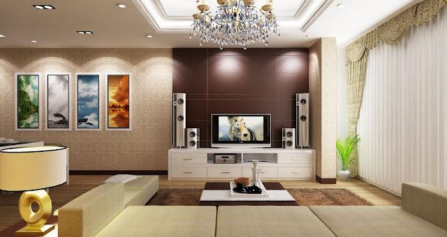 Nội thất phòng khách căn hộ THE K PARK