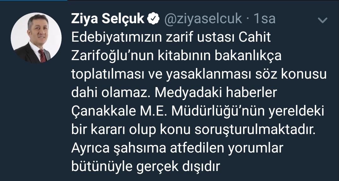 Cahit Zarifoğlu'nun kitabı ile ilgili açıklamalarda bulundu