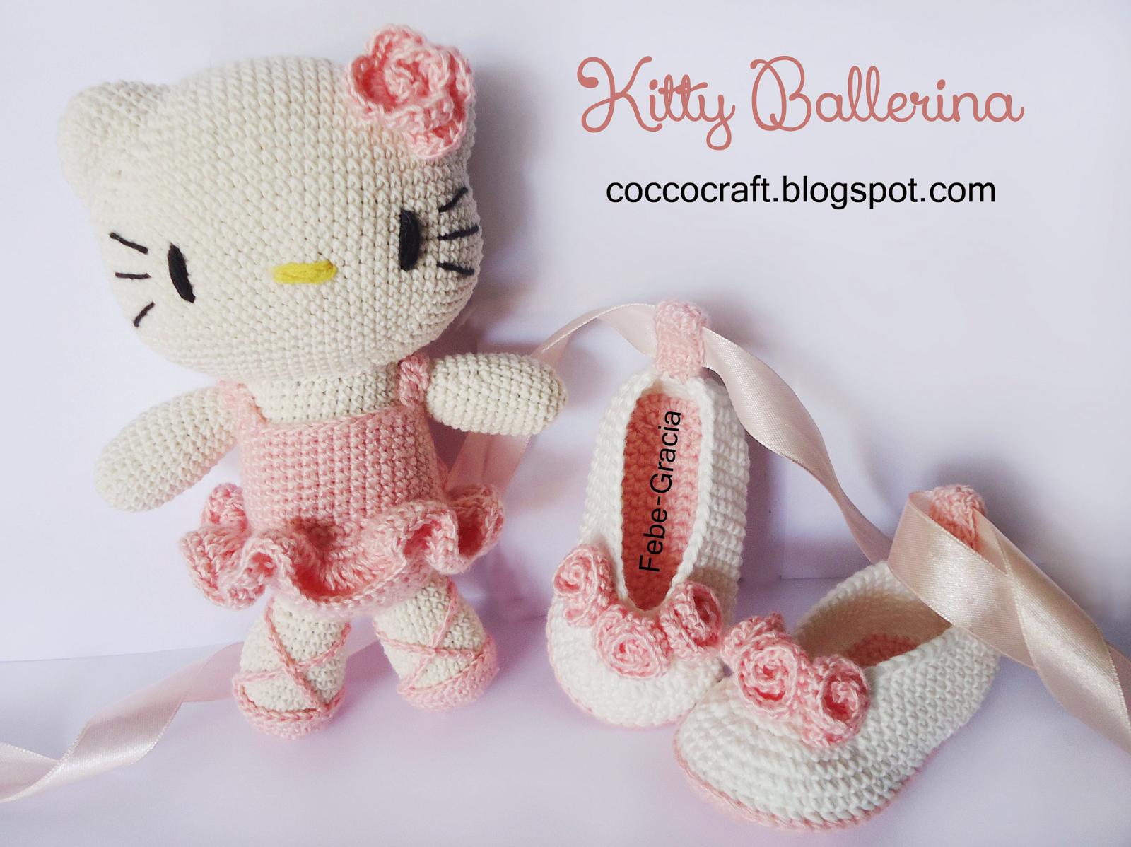 Free Amigurumi Patterns Hello Kitty : Kitty ballerina amigurumi and baby shoes crochet pattern