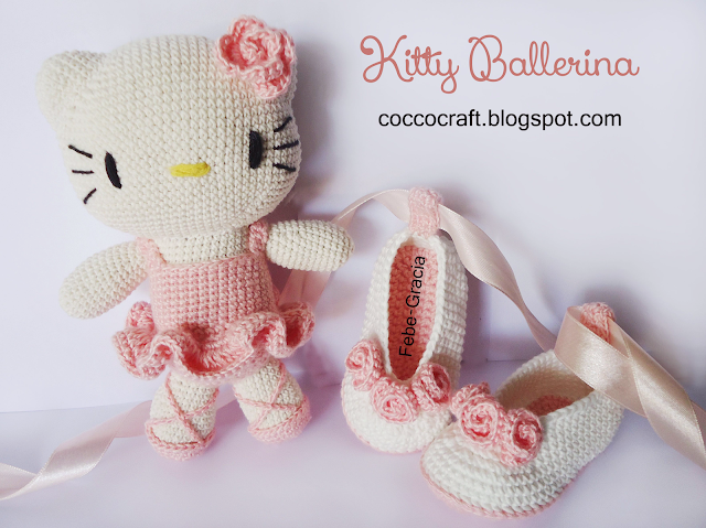Kitty Ballerina Amigurumi And Baby Shoes Crochet Pattern