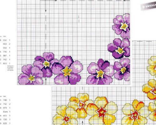 d5776c4847 Gráficos de Flores em Ponto Cruz para Imprimir - Como Faço