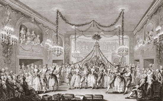 Carnival scene at the court of Versailles (1763)