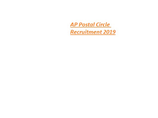 AP Postal Circle MTS Recruitment 2019-at www.appost.in 68 Postman & Mail Guard Vacancies   Online Application Form