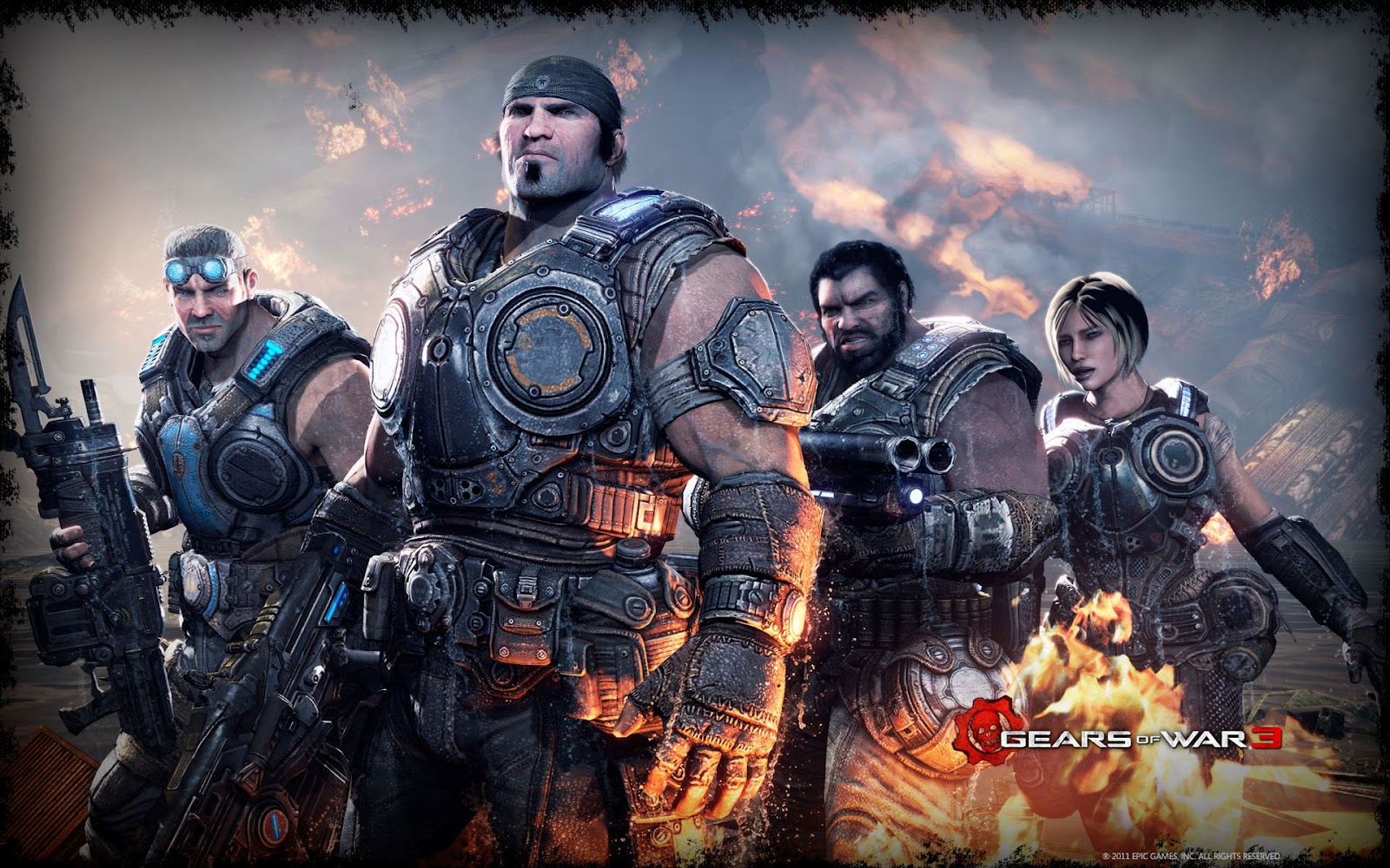 Gears Of War 3 Wallpapers: Wallpapers HD: Juego Gear Of War 1, 2, 3