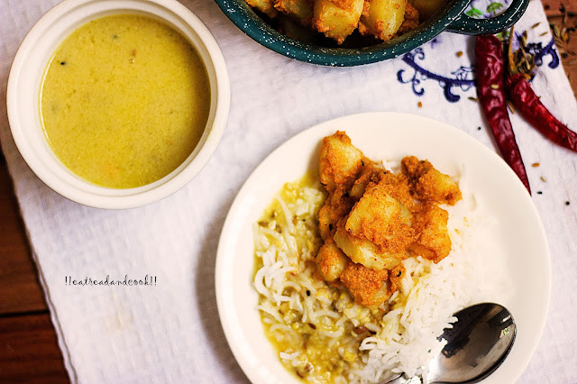 how to make Jhal Posto / Bengali Spicy Potato Curry with Poppy Seeds recipe and preparation