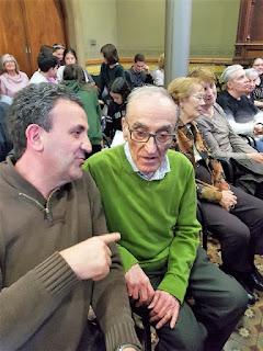 Josep Mª i Pablo a la sala d'actes del Centre Cívic