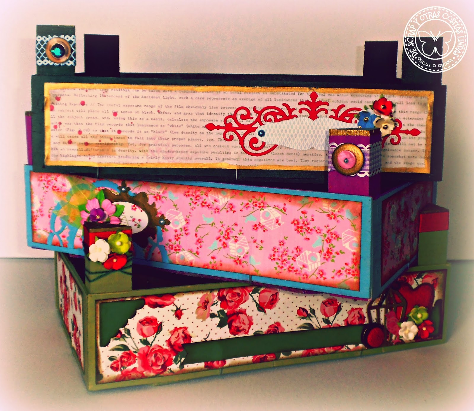 De scrap y otras cositas lindas m s cajas de fresas alteradas - Manualidades pintar caja metal ...