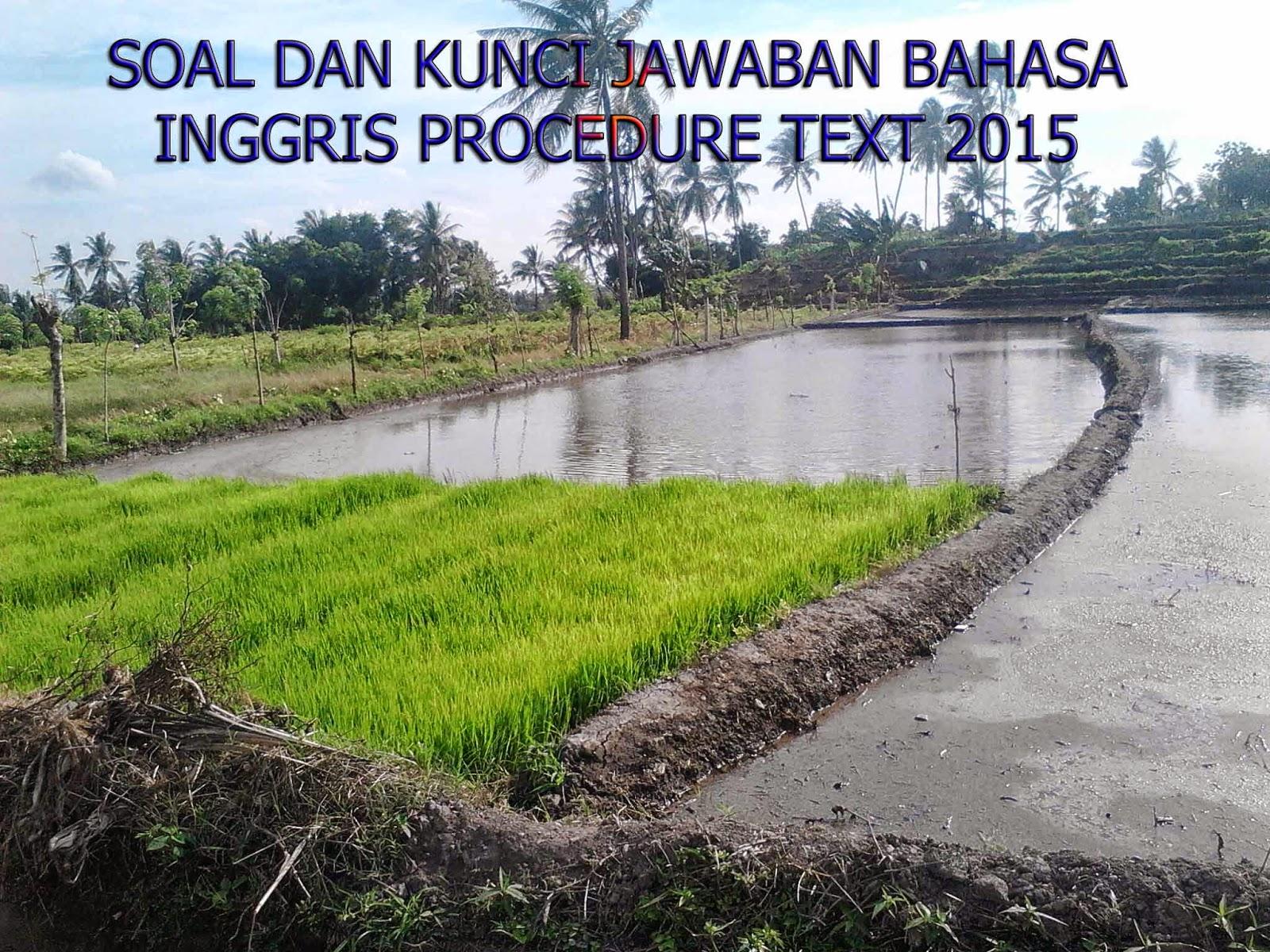 Soal Dan Kunci Jawaban Bahasa Inggris Procedure Text 2015 Kumpulan