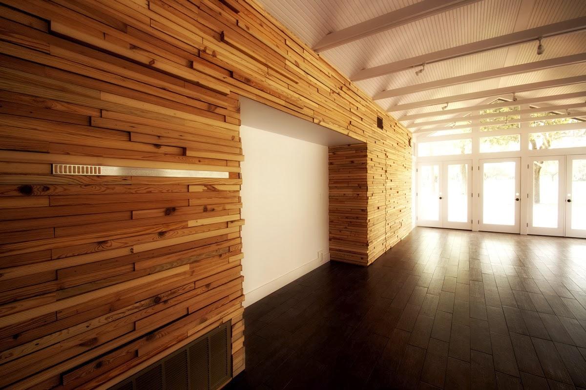 Revestimientos de madera reciclada inspiraci n espacios - Revestimientos de paredes interiores en madera ...