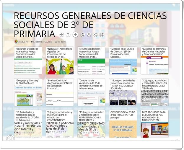 """""""15 RECURSOS GENERALES DE CIENCIAS SOCIALES DE 3º DE PRIMARIA"""""""