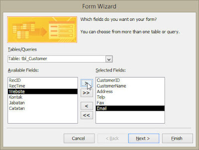 Form Invoice - Contoh Aplikasi Database MS Access
