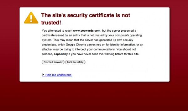 إصلاح خطأ شهادة الامن فى الانترنت وصعوبة التصفح Security Certificate Error