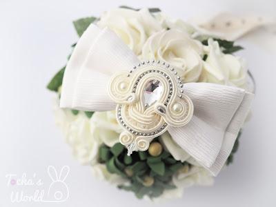 bow tie, bridal, bride, eco-friendly, fiancée, glass pearls, ivory, jewellery, soutache, Swarovski, tie a knot, upcycled, wedding, necklace, chocker