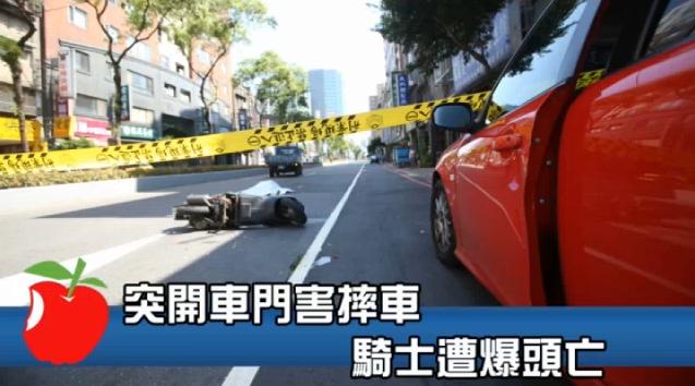 車禍肇事責任分析,違停車突開門,害婦遭輾斃