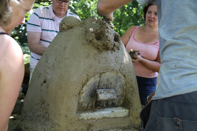 building a cob oven, norfolk