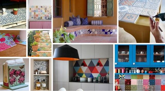 Διακοσμήσεις και DIY Κατασκευές με κεραμικά πλακάκια