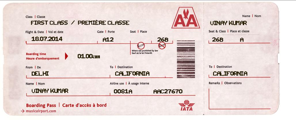 Create Fake Screenshots of Aeroplanes Fake Tickets