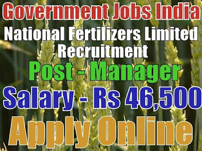 National Fertilizers Limited NFL Recruitment 2017