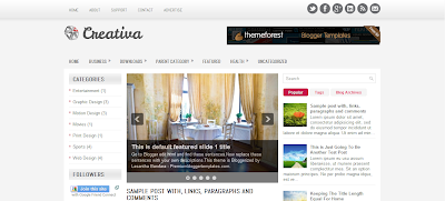 Creativa Blogger Template, Template Blog SEO