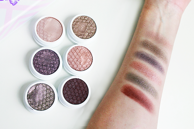 ColourPop Mile High: Best of Super Shock Shadow Collection swatches