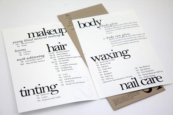 20 Stylish Examples Of Salon Brochure Designs Jayce O Yesta