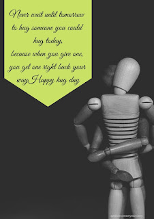Feel Good Hug Day Quotes with Images to send your lover