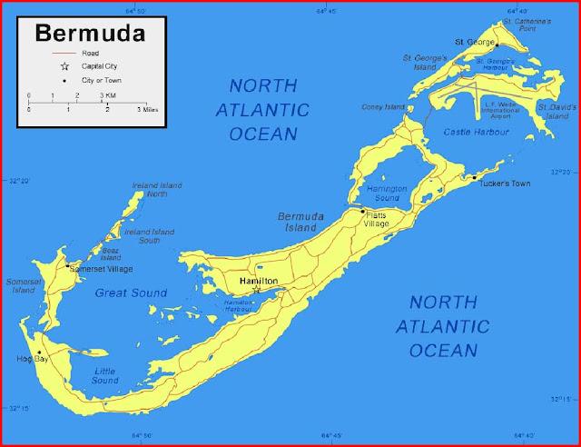 Gambar Peta Bermuda