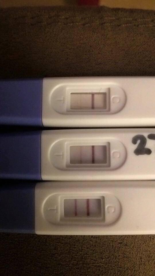 Graviditetstest positiv meget svag Hvad betyder