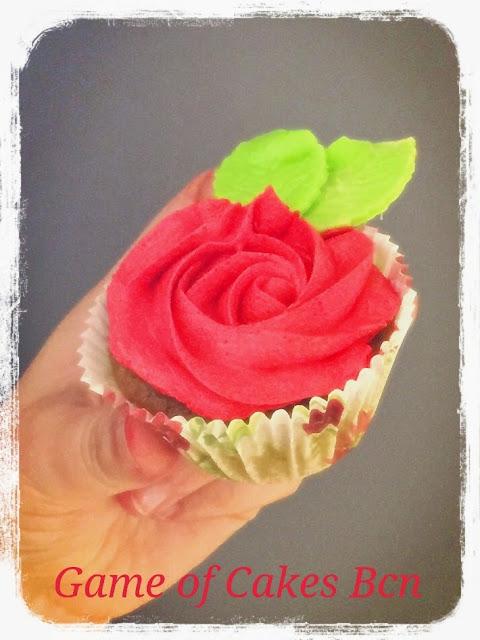 Cupcakes de Rosas de Sant Jordi, Te Matcha y Fresa