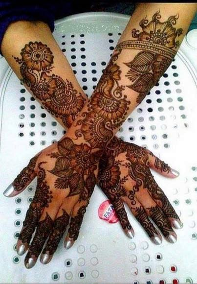 Simple bridal complicated mehndi designs 2017