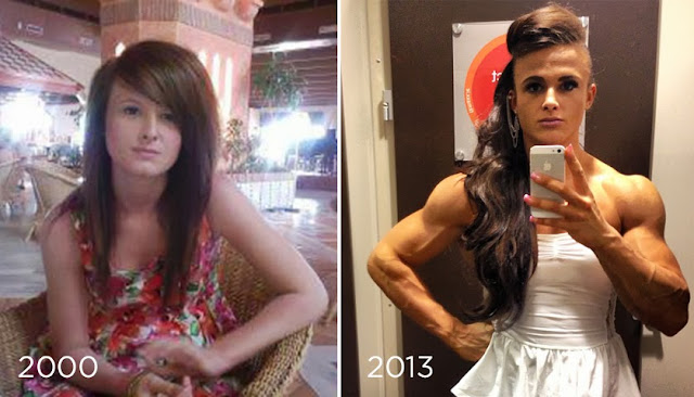 female bodybuilder transformation