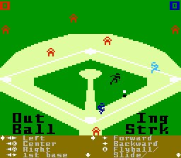 Screenshot of World Championship Baseball (I4NES)