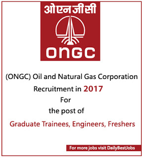 ONGC Recruitment 2017