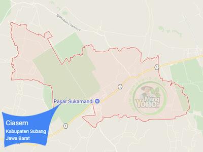 PETA : Kecamatan Ciasem, Kabupaten Subang, Jawa Barat