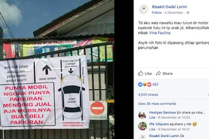 Waduh yang Punya Rumah Kesal: Nggak Punya Parkiran, Mending Jual Mobilnya Buat Beli Parkiran