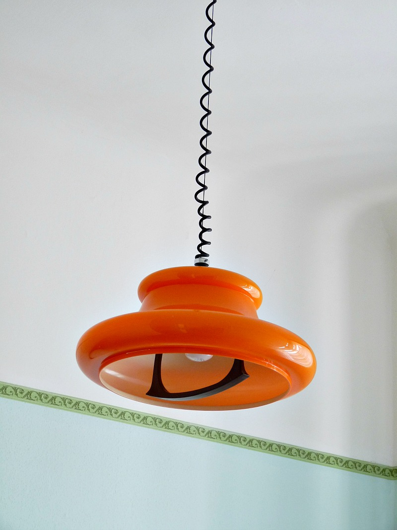 Vintage orange light fixture