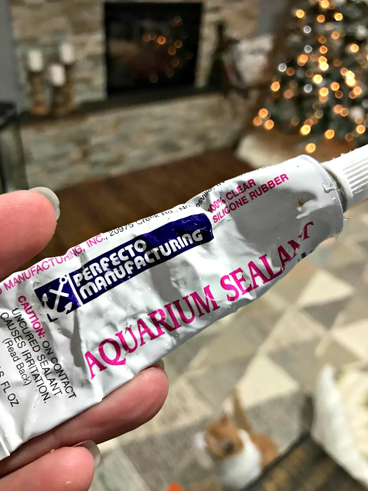 aquarium sealant to glue glass