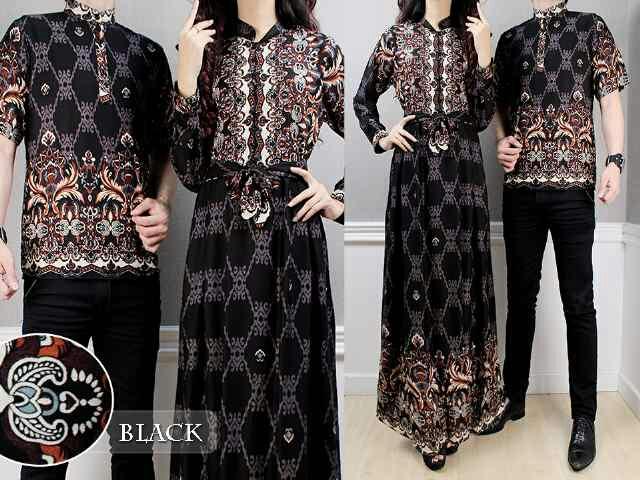 Baju Batik Couple Cantik Buat Suami  Istri Murah Bj0111